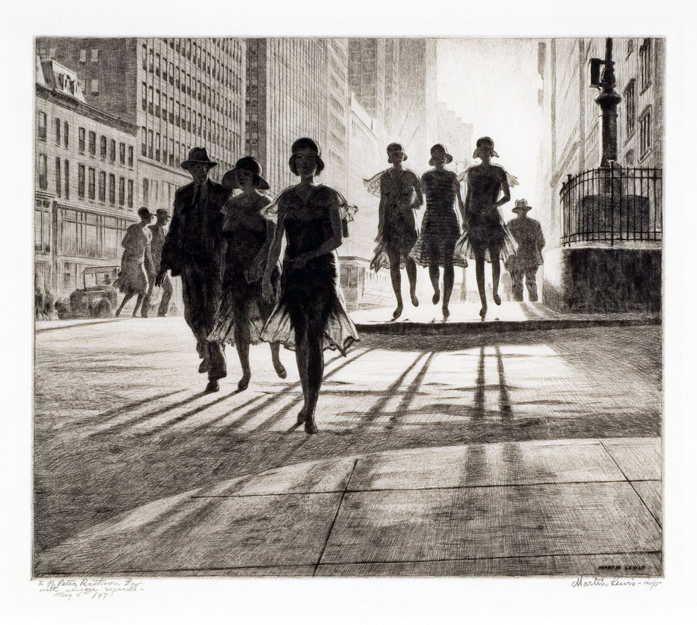 Shadow Dance, 1930, Martin Lewis